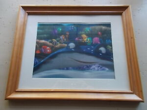 Disney Limited Edition Finding Nemo Mr Ray Lithograph Art Print Framed $11.25