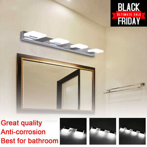 Modern Bathroom Vanity 2 3 4 LED Light Crystal Front Mirror Toilet Wall Lamp US $30.99