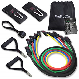 New!  Exercise Resistance Bands with Handles-5 Fitness Workout Bands