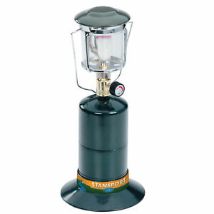 STANSPORT COMPACT SINGLE MANTLE PROPANE LANTERN GLASS GLOBE OUTDOOR CAMPING NEW