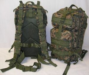 NEW  3-Day Military Tactical Assault MOLLE Backpack - MARPAT Marine Digital Camo