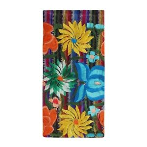 CafePress Mexican Flower Embroidery Beach Towel (1659649143)