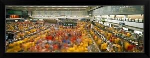 Trading floor of a stock exchange Black Framed Wall Art Print United States