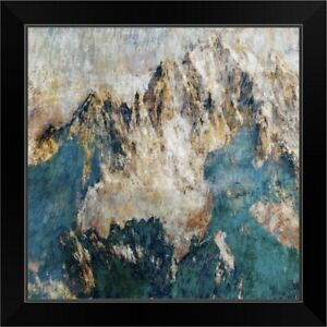 Mountain II Black Framed Wall Art Print Mountain Home Decor