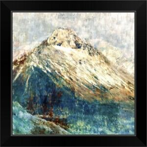 Mountain I Black Framed Wall Art Print Mountain Home Decor