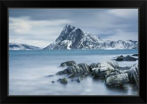 Mountain Blues Black Framed Wall Art Print Mountain Home Decor