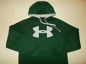 UNDER ARMOUR STORM DARK GREEN HOODED SWEATSHIRT MENS SMALL EXCELLENT CONDITION