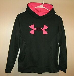 Girls sz YLG Under Armour Loose Cold Gear STORM Hoodie