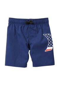 Under Armour 3T Toddler Boys Swim Trunks Board Shorts Americana Red White Blue