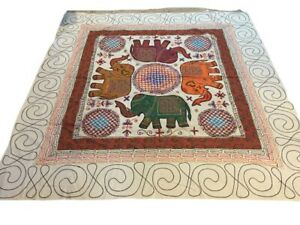 Elephant Huge Wall Hanging Bedspread Table Cover Sequin Hippie Boho 88quot; x 93quot; $47.99