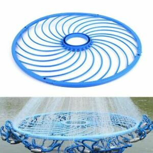 Blue Cast Ring Catch Fishing Net Hand Rope Accessory Tool Aluminum