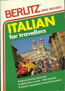 Italian for Travellers Berlitz Phrase Books English and Italian Edition