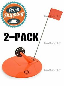 2 PACK 10quot; ROUND TIP UP w LINE hole cover Ice Fishing ORANGE