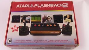 Atari Flashback 2 Black Plug & Play TV Game System 40 Built in Games.