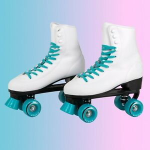 C7skates Teal Blue Soft Faux Leather Roller Skates Girls Christmas Gifts