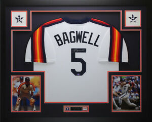Jeff Bagwell Autographed and Framed Rainbow Throwback Jersey Tristar COA D2 L $750.00