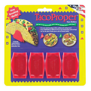 Taco Proper Taco Holders Set Of 4 Red
