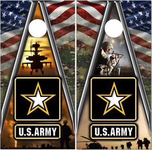 Army Military Camo Cornhole Wrap Bag Toss Skin Decal Sticker