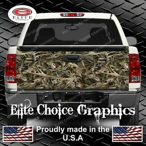 Deer Skull Hunting Camo Truck Tailgate Wrap Vinyl Graphic Decal Wrap