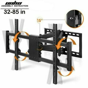 Full Motion TV Wall Mount Tilt Bracket Extra Large Up to 85