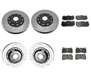 Genuine Front Rear Brake Kit Carbon Ceramic Disc Rotors Pads For BMW F82 M4 GTS
