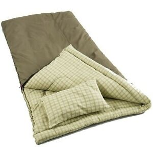 Big Game -5 Degree Canvas Sleeping Bag Full Cover Outdoor Hiking Camping Gear