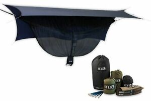 Eagles Nest Outfitters ENO OneLink DoubleDeluxe Hammock NavyOlive - Grey Tarp