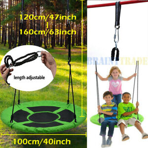 40inch Giant Flying Saucer Tree Swing Set for Kids Outdoor Play Platform Seat