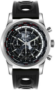 AB0510U4BE84-201S  Breitling Transocean Chronograph Unitime 46mm Men's Watch