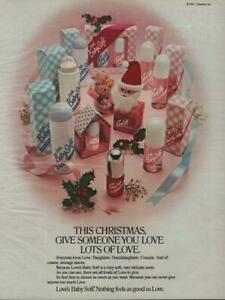 1983 Love's Baby Soft Vintage PRINT AD Christmas Gifts Body Mist Powder Lotion