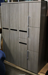 New Designer Large Grey Office Storage Locker JSI Office Furniture Line Wood