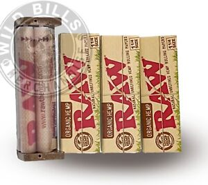 3 PACKS RAW ORGANIC ROLLING PAPERS 1 1 4 SIZE Rolling Machine 79mm FREE TUBE $8.99