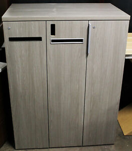 New Designer Medium Grey Office Storage Locker JSI Office Furniture Line