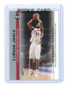 2003 Upper Deck Phenomenal Beginning Jump Shot #3 Lebron James Rookie Card