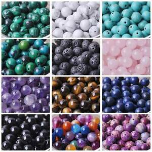 Natural Gemstone Round Stone Loose Beads lot 4mm 6mm 8mm 10mm DIY Jewelry Making C $1.99