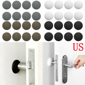 12 Rubber Self Adhesive Door Knob Guard Stopper Wall Bumper Protector Cabinet 2