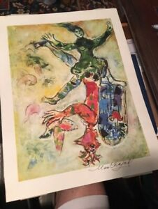 Marc Chagall hand signed framed lithograph $850.00