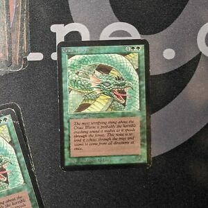 1 Craw Wurm #0228 Alpha Green MtG Magic 93 94 Old School Common 1x x1
