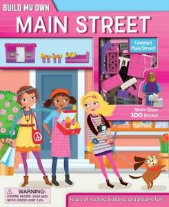 Build Own Main Street 3 Figures Book Models Stickers 168 Bricks 6 Yrs New