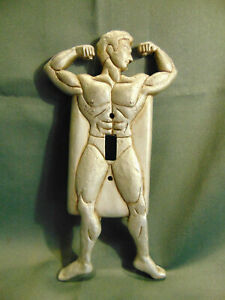 He Man single light switch plate composite silver 9 1/2