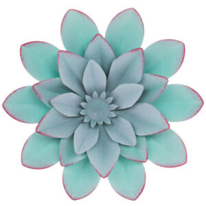 BLUE OR PURPLE Layered SMALL Flower Metal Wall Decor . $9.99