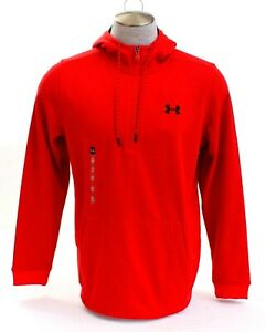 Under Armour Coldgear Red Armour Fleece ½ Zip Pullover Hoodie Mens NWT $49.49