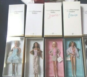 Lot of 4 MODELS OF THE MOMENT ALL 4 BARBIE DOLLS Gold Label