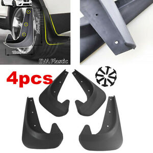 Brand NEW Deluxe Black Molded Splash Guards Mud Flaps 4 pieces Front