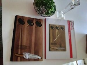 COCA-COLA Picnic Time 'Delio' Cutting Board and Cheese Tools Serving Set new