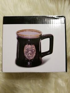 Police Officer Porcelain Coffee Mug with Police Department Cres...