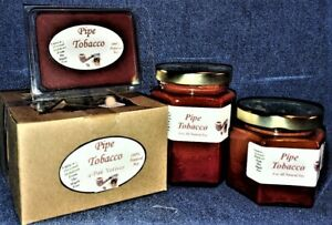 NEW Hand Poured Masculine Scented Soy Candles Tarts & Votives - Pipe Tobacco