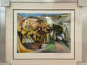 Picasso Signed Limited Edition Lithograph Cafe Royan