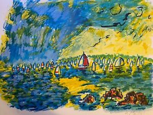 Ensrud Original Hand Signed Limited Edition Lithograph Upwind $95.00