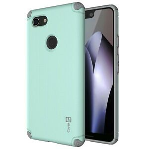 Powder Blue Gray Hard Slim Phone Case with Embedded Metal For Google Pixel 3 XL $2.49